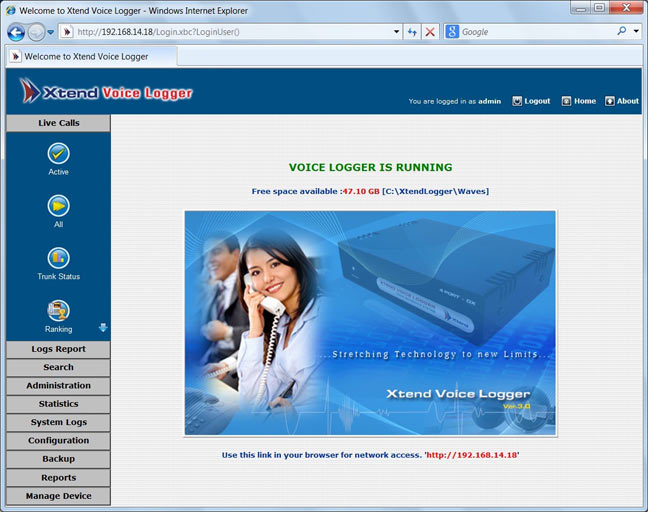 Xtend Voice Logger | Screenshots - Call Recording Web